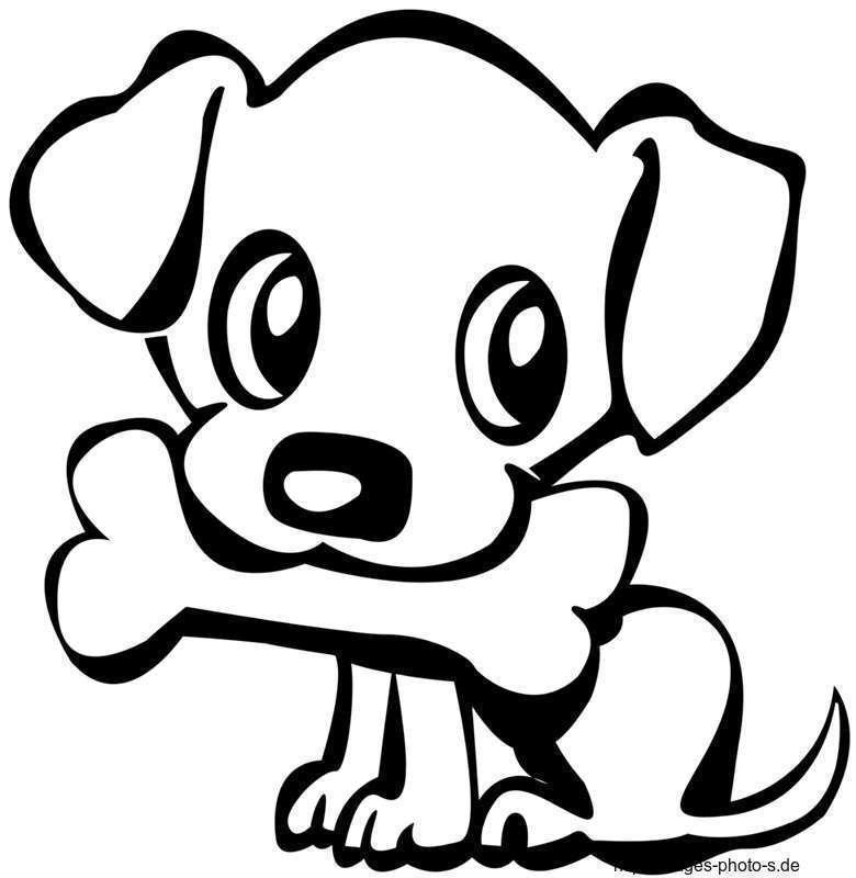 Tegning av hund